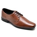 Sapato Social Roma em Couro Dark Brown Calçados Império