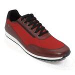 Tênis Style Sports em Couro Vermelho Calçados Império