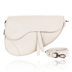 Bolsa Couro Off White Saddle Bag Parker