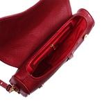 Bolsa Couro Vinho Saddle Bag Parker