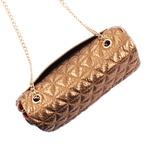 Bolsa de Couro Maria com Matelassê Bronze