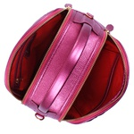 Bolsa Vanessa Média Couro Pink Metalizado Matelassê