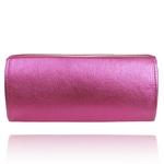 Estojo de Couro Pink Metalizado