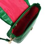 Bolsa Verde Bandeira Anna de Couro com Matelassê