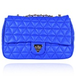 Bolsa Tiracolo Nina Couro Azul Royal - Grande