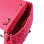 Bolsa Tiracolo Nina Couro Pink - Grande