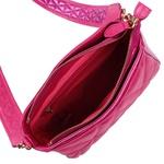 Bolsa Tiracolo de Couro Dayana Rosa Pink Matelassê