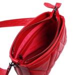 Bolsa Tiracolo de Couro Dayana Vermelha Matelassê