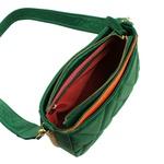 Bolsa Tiracolo de Couro Dayana Verde Éden Matelassê