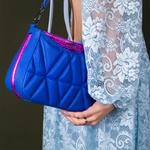 Bolsa Tiracolo de Couro Dayana Azul Royal Matelassê