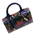 Bolsa Tiracolo Audrey Snake Colors com Marinho