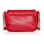 Bolsa Anna Vermelha de Couro com Matelassê