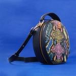 Bolsa Artball Couro Marinho Snake Color Verniz Transversal
