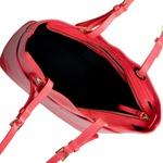 Bolsa de Ombro Vermelha em Couro Saffiano