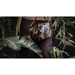 Bolsa Jazz Couro Verde e Verniz Camuflado Estruturada Transversal