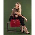 Bolsa Marley de Couro Vermelho de Mão com Alça Transversal