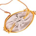 Bolsa Mondrian Couro Amarelo e Snake Pink Bucket Bag
