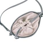 Bolsa Mondrian Couro Cinza e Tie Dye Bucket Bag