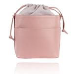 Bolsa Mondrian Couro Rosa e Candy Colors Bucket Bag