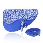 Bolsa Saddle Bag Parker Azul Royal com Alça Transversal