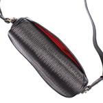 Bolsa Saddle Bag Parker Preta com Alça Transversal