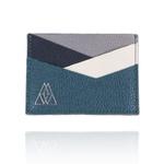 Carteira Summart Porta Cartões Geométrica Couro Azul