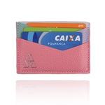 Carteira Summart Porta Cartões Geométrica Couro Candy