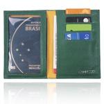 Porta Passaporte Brasilidade Couro Azul, Verde e Amarelo