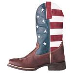 Bota Texana De Bico Quadrado Usa