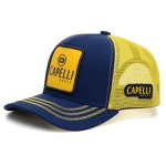 Boné Personalizado Capelli Boots Cor Jeans Com Amarelo