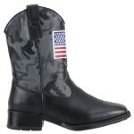 Bota Infantil Cano Camuflado Cor Preto Bandeira Usa
