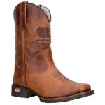 Texana Clássica Country De Couro Com Solado Texas