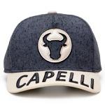 Boné Capelli Boots Personalizado Cinza Jeans Boi Bruto