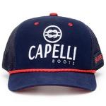 Boné Capelli Boots Azul Marinho Com Detalhes Vermelho