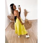 Saia Midi Isabela Amarelo