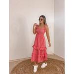 Vestido Xadrez Joaquina Vermelho