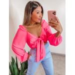 Blusa Laço Pink Neon
