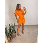 Vestido Jeans Colors laranja