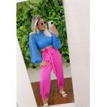 Cropped Emanuely Azul
