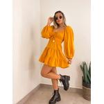 Vestido Linho Amarelo
