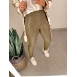 Calça Skinny Couro Verde