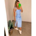 Vestido CF Amarração Azul