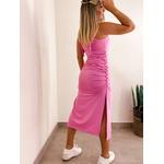 Vestido CF Amarração Rosa