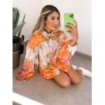Camisa Over Floral