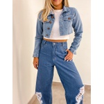 Jaqueta Jeans Cropped