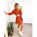 Vestido Luiza Terra Cota
