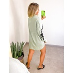 Camisa Over Bordada Verde