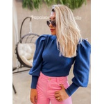 Blusa Tricot Bel Azul