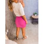 Saia Camadas Pink