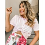 Cropped Camiseta CF Rosa